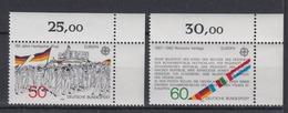 Bund 1130-1131 Eckrand Rechts Oben Europa Historische Ereignisse 50 Pf + 60 Pf** - BRD