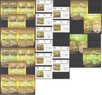 ZZ144 !!! IMPERFORATE, PERFORATE 2012 BURUNDI MUSHROOMS CHAMPIGNONS VENENEUX !!! 12KB+2BL+10 LUX BL MNH - Pilze