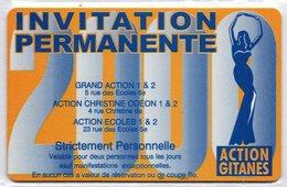 CINECARTE - CARTE CINEMA - CINE CARTE - Action Gitanes 2000 Neuve - Movie Cards