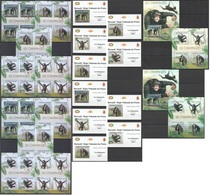 ZZ155 !!! IMPERFORATE, PERFORATE 2012 BURUNDI ANIMALS PRIMATES CHIMPANZES !!! 12KB+2BL+10 LUX BL MNH - Chimpancés