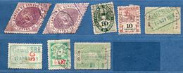 Switzerland 1860-1910 Cantonal Fiscal Stamps Geneva, Fribourg, Bern, Luzern, St Gallen & Vaud, 8 Stamps, 2005,1522 - Steuermarken