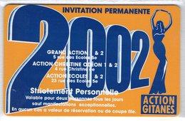 CINECARTE - CARTE CINEMA - CINE CARTE - Action Gitanes 2002 Neuve - Movie Cards