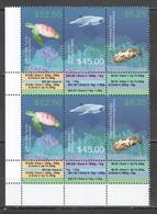 CC889 2015 SAMOA FISH & MARINE LIFE SHARKS TURTLES !!! MICHEL 100 EURO 2SET MNH - Meereswelt