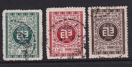 Taiwan 1956, Minr 253-255 Vfu - 1945-... Republic Of China