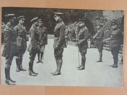 Carte Photo Roi Albert Et Officiers?  1917 - Personaggi