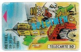 Carte SPECIMEN - Scan Recto/verso - France