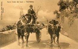 ITALY - Carro Tirato Di Buoi TAORMINA1907 - Italie