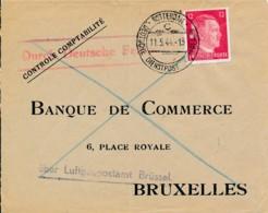 Nederland -Rotterdam – Duitse Dienstpost - 11.5.44 über Luft-gaupostamt Brüssel - Luchtpost - Airmail