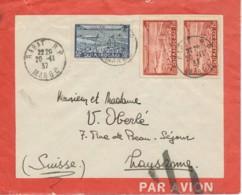 Maroc - Par Avion - Lettre Publicitaire Pour Post Aérienne - RABAT 20-11-37 Vers Lausanne - Par Avion Barré - Morocco (1891-1956)