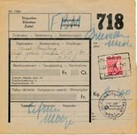 Mobilisation 1939/40 – Colis Postal BRA 17 JANV 40 Vers Rég Cyclistes Frontières – BPS 9 - Railway