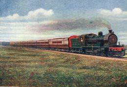 INDIA - Bengal Nagpur Railway Mail Train 1930 UK Postmark London - Signed Artcard - Trains