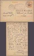 "Guerre 14-18 - EP Au Type 8ctm Orange Obl Simple Cercle ""Marchienne-Au-Pont"" (1917) + Censure Charleroi > Lier - Stamped Stationery"