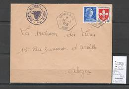 Algerie - Lettre  - Cachet Hexagonal COMBES SAS - Marcophilie - Briefe U. Dokumente