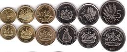 Lesotho - Set 6 Coins 10 20 50 Lisente 1 2 5 Maloti 1998 - 2016 UNC Lemberg-Zp - Lesotho