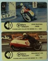 ISLE OF MAN - GPT - 2 Specimens - Bob McIntyre & John Surtees - Man (Ile De)