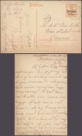 """Guerre 14-18 - EP Au Type 8ctm Orange Obl à Pont Bleu """"Burcht"""" (1917) > Anvers + Censure Mécanique Rouge. - Entiers Postaux"""
