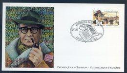 TIMBRE FRANCE...REF150520...DOCUMENT PHILATELIQUE 1ER JOUR ...15 Octobre 1994 Georges SIMENON - 1990-1999
