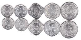 Myanmar - Set 5 Coins 1 5 10 25 50 Pyas 1966 AUNC / XF+ Lemberg-Zp - Myanmar