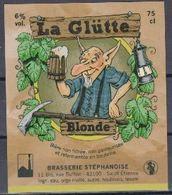 Etiquette (label) De Biere Française Copains-Chopines ( Beer, Cerveza, Birra, Bier); Micro-Brasserie Stéphanoise 42 - Bier
