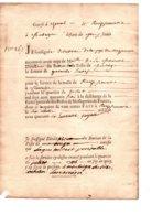 REÇU  DE 40 LIVRES POUR UN PIETON CHARGE DU SERVICE DE LA MALLE-POSTE DE MONTAIGU A ROCHESERVIERE  EN 1746 - Documents Of Postal Services