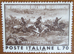 1964 ITALIA Reggimenti Militari Anniversario Arma Carabinieri- Lire 70 Usato - 1961-70: Used