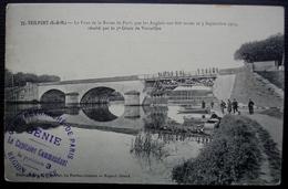 Camp Retranché De Paris Génie Position 3 Région Avancée, Cachet Recto Verso, Carte De Trilport Cad De Lizy / Ourcq  1914 - Guerra Del 1914-18