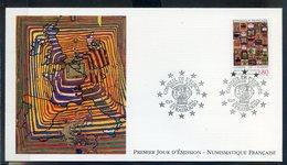 TIMBRE FRANCE...REF150520...DOCUMENT PHILATELIQUE 1ER JOUR ..15 Janvier 1994 Conseil De L'Europe - 1990-1999