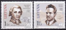 LITAUEN 2003 Mi-Nr. 807/08 ** MNH - Lituanie