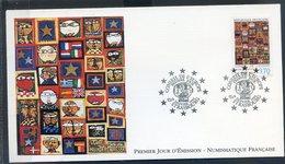 TIMBRE FRANCE...REF150520...DOCUMENT PHILATELIQUE 1ER JOUR ...15 Janvier 1994 Conseil De L'Europe - 1990-1999