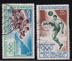 Congo 1968, Sports, Minr 167-168 Vfu - Gebraucht