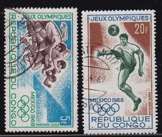 Congo 1968, Sports, Minr 167-168 Vfu - Oblitérés