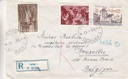 Yougoslavie - Lettre Recom De 1956 -  Oblit Osijek - Armoiries - Expo Jupiz III - 1945-1992 Sozialistische Föderative Republik Jugoslawien