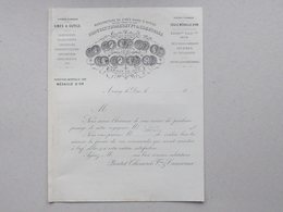 ARNAY-LE-DUC (21): Facture 1892 MANUFACTURE Limes & Outils PROUTAT-THOMERET Médaille D'or Exposition 1878 Et 1889 - 1800 – 1899