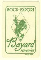 C0360[Speelkaart] Bock-Export / Bayard / Termonde / Inglis Brux [Bruxelles Druk] [Dendermonde Bier Bière; Harten Dame] - Cartes à Jouer Classiques