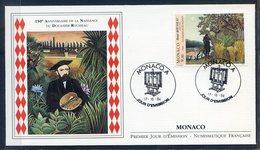 TIMBRE MONACO...REF150520...DOCUMENT PHILATELIQUE 1ER JOUR ...17 Octobre 1994 -150eme Anniversaire Douanier Rousseau - Monaco