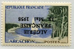 !!! PRIX FIXE : ALGERIE, N°1312 SURCHARGE ALGERIE FRANCAISE RENVERSEE NEUF ** - Unused Stamps