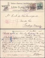 """Guerre 14-18 - OC1 Et 2 Sur CP Imprimée """"Tables à Dessiner Amovibles"""" (Haine-St-Pierre) > Houdeng-Aimeries - Guerre 14-18"""