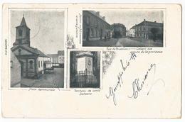 Genappe Place Communale Rue De Bruxelles Multi Vues Carte Postale Ancienne - Genappe