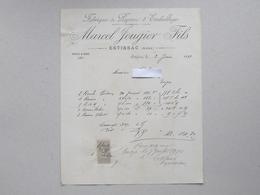 ESTISSAC: Facture 1899 Fabrique De Papiers D'emballage JOUGIER Fils - 1800 – 1899