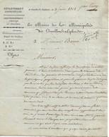 Lot De 3 Lettres Du Maire D'Oinville-St-Liphard (28) Concernant Le Baptême Des Cloches De L'église, Juin 1808 - Documents Historiques