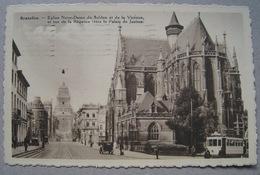 Bruxelles. Eglise Notre-Dame Du Sablon Et Rue De La Régence. Tram. 1935. Agriculture 10 Olive - N° 337 - Monuments, édifices
