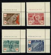 Belg. 1942 E 26/29** MNH Légion Wallonie Antibolcheviste/Waals Legioen Tegen Het Bolsjevisme (2 Scans) - Erinnofilia