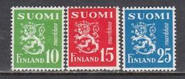 Finland 1952 - Wappenloewe, Mi-Nr. 403/05, MNH** - Finland