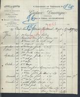 FACTURE DE 1896 GUSTAVE DAUVERGNE COMMERCE DE TONNEAUX À AY CHAMPAGNE : - 1800 – 1899