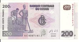 CONGO 200 FRANCS 2013 UNC P 99 B - Congo