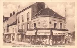 France   Creil  Route D'Amiens , Rue Victor Hugo Et Tabac Café La Meuse  Pharmacie  Citroen Oldtimer    M 2450 - Creil