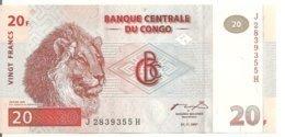 CONGO 20 FRANCS 1997 UNC P 88 - Congo