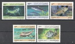 A507 1986,1987 MAURITANIE FAUNA FISH & MARINE LIFE 2SET !!! MICHEL 11,2 EURO !!! MNH - Marine Life