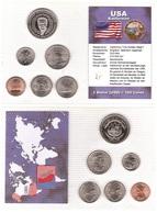 USA / Liberia - Set 6 Coins 1 5 5 10 25 Cents 1 Dollar 2001 - 2004 UNC A. Schwarzenegger Blister Lemberg-Zp - Other