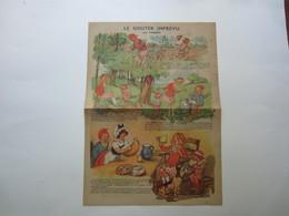 Affichette Par POULBOT Le Gouter Imprévu, La Crème De Gruyère - Ricette Culinarie